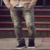 New spring retro wash jeans men slim ripped wrinkled design jeans Mens Fashion Brand Slim Straight Jeans new design Extra Image 6