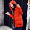 New Winter Coat Slim Cotton Padded Clothing Women Medium Parka Autumn Winter Jacket Casual Hooded Female Outwear