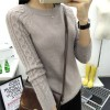 O Neck Twisted Flower Sweater Winter Cashmere Jumpers Long Sleeve Pullover For Women