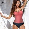 One Piece Swimsuit Sexy Women Push Up Swimwear Solid Bodysuit Bandage Cut Out Beach Bathing Suit Monokini Extra Image 2