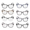 Plain Glass Spectacles Casual Vintage Full Rim Round Shaped Eyeglasses Eye Accessories Full Frame Glasses Extra Image 2