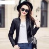 Plus Size New Fashion Spring Autumn Women Leather Coat Female Slim Black Leather Jacket PU Zippers Motorcycle Outerwear Extra Image 3