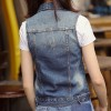 Plus Size New Summer Jacket Sleeveless Casual Slim Jeans Vest Vintage Fashion Short Paragraph Denim Vest Women Extra Image 5