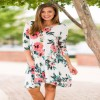 Print Big Flower Floral Loose Beach Casual Dress Women Summer Autumn Sexy Bohemian Half Sleeve Ladies Dresses Black Extra Image 3