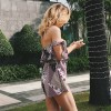 Printed Lace Up Strapless Dress Mini Dress For Women Backless Jumpsuits 2018 Rompers Loose Beach Outfits Extra Image 2