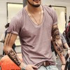 Retro Men T Shirts V Neck Casual Vests Saints British Style Tops And Tees Pure Cotton Clothing For Men