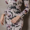 Sexy Floral Print Pencil Bodycon Dress Women 2019 Spring Elegant Full Sleeve Split Female Dress Casual Sheath Vestidos Extra Image 6