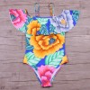 Sexy Off The Shoulder Print Floral Swimwear Women One Piece Swimsuit Bathing Suit Ruffle Monokini Swim Suits Wear Extra Image 6