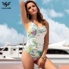 Sexy One Piece Swimsuit Women Summer Swimwear World Map Bandage Bodysuit Monokini Beach Bathing Suits Swim Wear