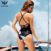 Sexy One Piece Swimsuit Women Summer Swimwear World Map Bandage Bodysuit Monokini Beach Bathing Suits Swim Wear Extra Image 4