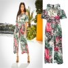 Sexy Summer Rompers Off Shoulder Short Sleeve Jumpsuit Female Overalls Leopard Printed Summer Pants Extra Image 1