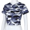 Sexy T shirt Women crop top camis tshirt summer Womens Fashion Camouflage Bare Midriff Short Sleeve Crop Tops Extra Image 4