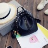 Small Preppy Backpack Small Rivet Zipper Pu Leather Bag For Girls Latest Designer Fashion Backpacks For School Girls Extra Image 4