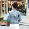 Spring New Denim Jacket Women Patch Designs Hole Women Jeans Jacket Long Sleeve Short Woman Coat jaqueta feminina Extra Image 3
