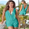 Summer Beach Wear Dresses Sleeveless Jumpsuits Sexy Backless Bodycon Bodysuit Rompers For Women Extra Image 2