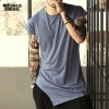 Summer New Irregular Designer Tops And Tees For Men Long Casual Sleeveless T Shirts Brand Clothing For Males Extra Image 1