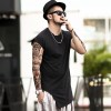 Summer New Irregular Designer Tops And Tees For Men Long Casual Sleeveless T Shirts Brand Clothing For Males Extra Image 2