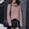 Turtleneck Knitting Thick Sweater Women Solid Winter Clothes Long Sleeve Loose Korean Warm Pullover Sueter Mujer