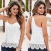 Vestlinda Summer Women Sexy Sweet Halter Lace Tops Camisole Sleeveless Tank Tees Thumbnail
