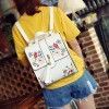 Vogue Star Pu Leather Backpacks Embroidered School Bags For Teenagers Casual Travel Bag Female Backpacks Extra Image 2