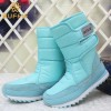 Warm Leather Shoes High Quality Winter Footwear For Ladies Sky Blue Snow Boots Fur Lining Girls Boot Extra Image 6