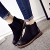 Warm Winter Boots Pure Leather Ankle Boots Slip On Creepers Casual Flat Heel Female Shoes Ladies Footwear Extra Image 3