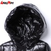 Winter Down Jacket For Women Doudoune Femme Long Feather Jacket Hooded Down Coats Women Parkas Black Outwear Extra Image 5