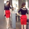 Women Pencil Skirts Ruffles Summer Korean Casual Elegant Open Slit Office Thumbnail