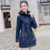 Women Ripped Jackets New Fashion Casual Hooded Denim Jacket For Woman Ladies Jeans Outwear Long Sleeve Zipper Coat Extra Image 3