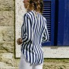 Women Striped Blouse Shirt Long Sleeve Blouse Shirts Casual V Neck Tops Blouse Mujer de Moda 2019 Extra Image 2