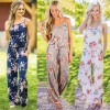Womens Summer Jumpsuits Full Length Rompers Floral Printed Summer Style Mini Dress For Ladies Extra Image 3