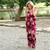 Womens Summer Jumpsuits Full Length Rompers Floral Printed Summer Style Mini Dress For Ladies Extra Image 5