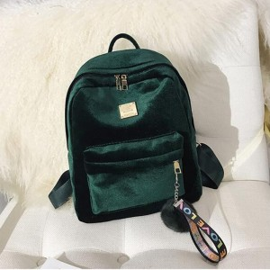 2018 Autumn Winter Backpack For Women Velvet School Bags Shoulder Bags Fashion Designer Female Backpack