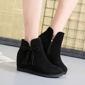2019 flat boots womens tassels Martin boots fashion breathable British Style wind bare boots brown red color shoes