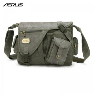 Aerlis Brand Canvas Pu Leather Handbags Crossbags Shoulder Bags For Men Thumbnail
