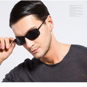 Aluminum Frame New Polarized Sunglasses Men Fashion Sun Glasses Travel Driving Male Eyewear Shades