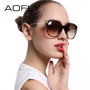 AOFLY Fashion Lady Sun glasses New Polarized Women Sunglasses Vintage Alloy Frame Classic Brand Designer Shades