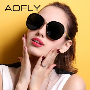 AOFLY Fashion Polarized Sunglasses Original Brand Sun Glasses Women Big Frame Shades New Summer Style mujer