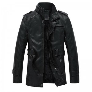 Autumn and winter new jacket PU men leather jacket and coat fashion leather motorcycle brand clothing Leisure