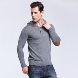Autumn Brand Mens Solid Hooded Knitted Sweaters Fashion Style  Pullover Mens Sweater Large Size Casual Outwear