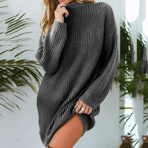 Autumn Loose Knitting Sweater New Brand Fashion Casual Long Sleeve Sweater Loose Long Sweater Pullovers Women Clothing
