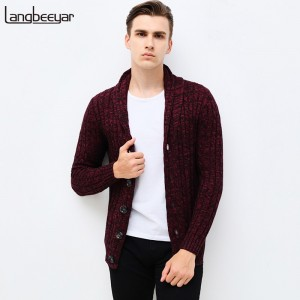 Autumn Winter Brand Clothing Sweater Men Fashion Single Breasted Slim Fit Cardigan Men Top Grade Knitted Sweater Men