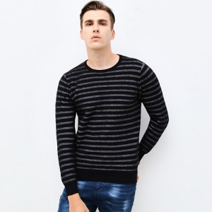 Autumn Winter Fashion Brand Clothing Men Sweaters Slim Fit Men Pullover O Neck Knitted Striped Sweater Men