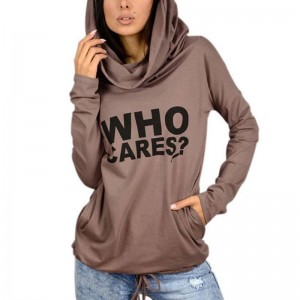 Autumn Women Sweatshirts Female Long Sleeve With Hood Letter Printed Sweater For Women Thumbnail