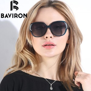 BAVIRON Brand HD Polarized Sunglasses Women Luxury New Fashion Sun Glasses Polaroid Lens Women Glasses Designer