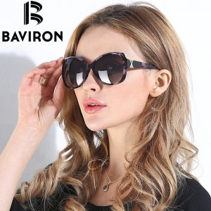BAVIRON City Eye Tortoise Sunglasses Women Polarized Lenses Glasses Retro Sunglasses Style Gradient Colors Rays UV400