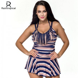 Beach Vintage Retro Swimsuits New Summer High Waisted Bathing Suits Swim Dress Beach Bikini Suits For Women