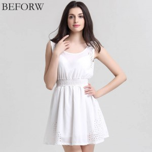 Beforw Brand New Sexy Women Slim Sleeveless Dress Summer Chiffon Casual For Women Thumbnail