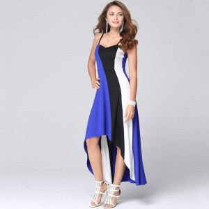 Beforw Sexy Women Dress Suspenders Maxi Casual Party Dress Irregular Beach Style Thumbnail