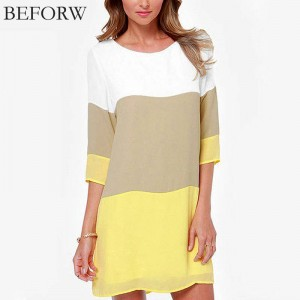 Beforw Sexy Women Summer Loose Chiffon Dress Casual Slim Loose Fit Dress Women Thumbnail